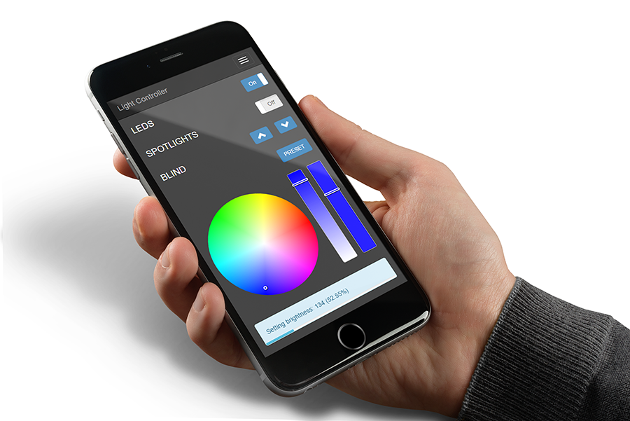 APA102 LED Controller iPhone6 Web GUI Mockup